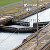 Panama Canal transit lanes, lock gates, and chambers.