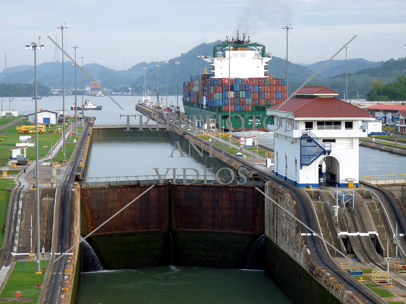 Panama Canal Control House and Chamber gates.