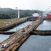 Panama Canal transit lanes and lock chambers.