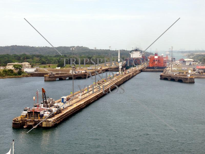 Panama Canal transit lanes.