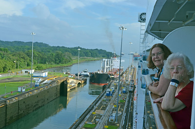 Lock 1 Opens for the Cargo Ship
