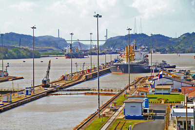 Cargo Tanker Enters First Lock