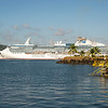 Coral Princess anchored in Gatun Lake