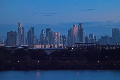 View of Panama City through telephoto lens