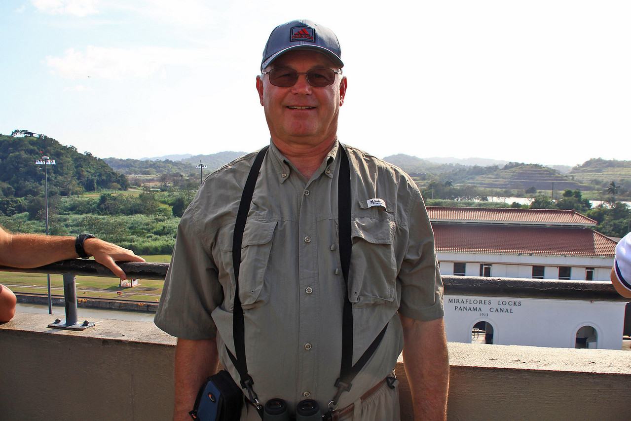 Dwayne on Observation Platform - Miraflores Locks