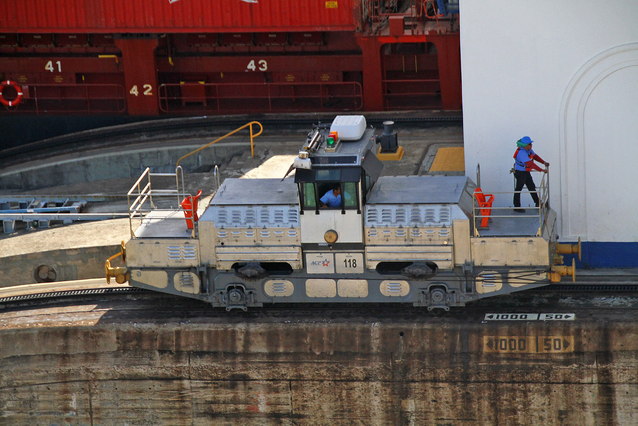Electric Locomotive that Moves Ships Thru Canal