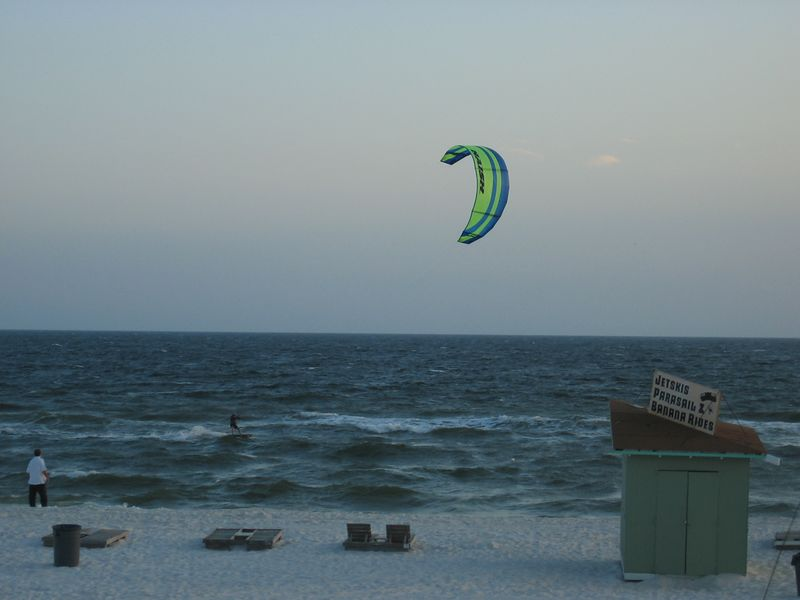 One of the ubiquitous kite surfers