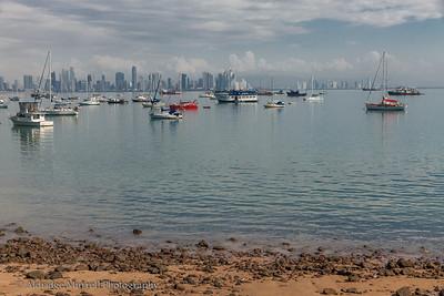 Panama City, Panama  skyline view from Causeway