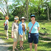 Doreen, Joan and Susan at the site of Old Panama City, destroyed in 1671 by Captain Henry Morgan.