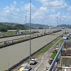 Looking upstream from the Miraflores Locks.
