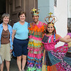 Joan and Susan with two of our colorful local guides in Casco Viejo.
