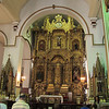 The gold altar in San Jose church in Casco Viejo, where Panama City was rebuilt after the sack of Old Panama.  It was supposedly saved from Henry Morgan because the priests painted it black.