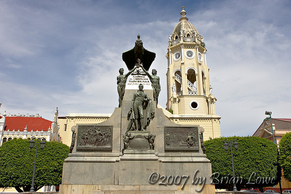 Church of St Francis of Assisi &Simon Bolivar monument
