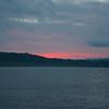 Near Caletas Reserve: Sunrise color on clouds