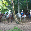 Caletas Reserve: Horse riders getting instructions
