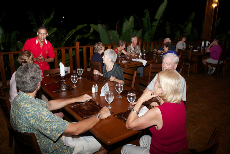 Arenal Hot Springs: At dinner