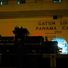 Panama Canal: Control house and mule closeup at second Gatun Lock