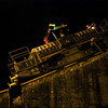 Panama Canal: Mule ascending at second Gatun Lock