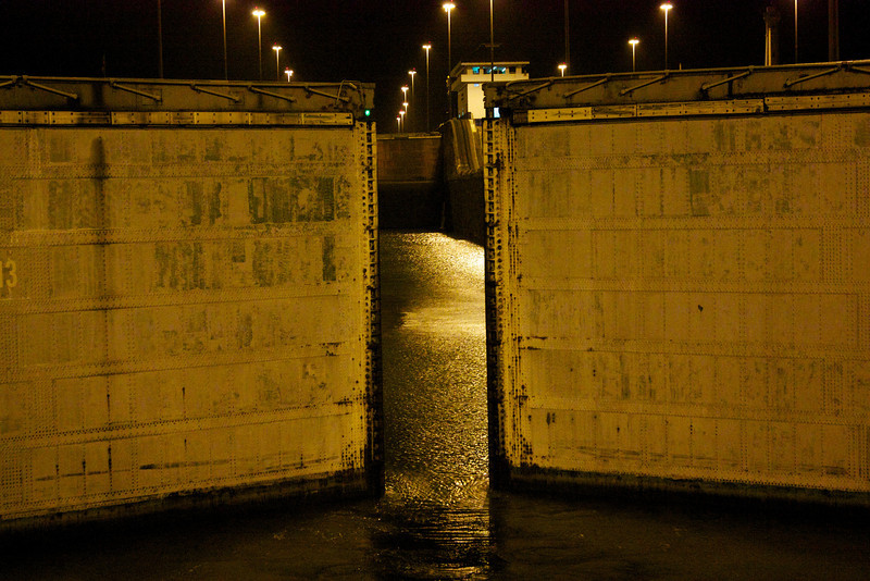 Panama Canal: Gates opening to second Gatun Lock