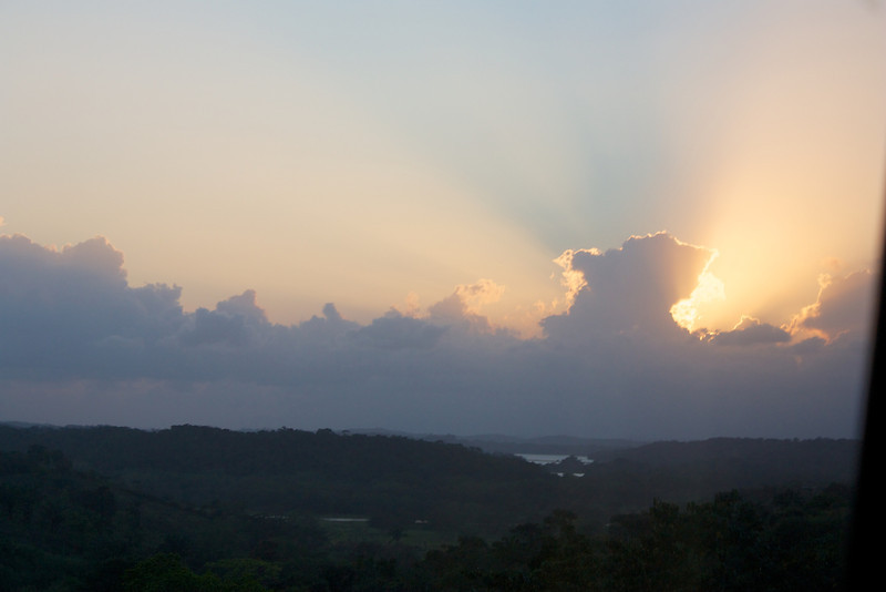 Near Panama City: Sun behind clouds