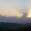 Near Panama City: Sun behind clouds