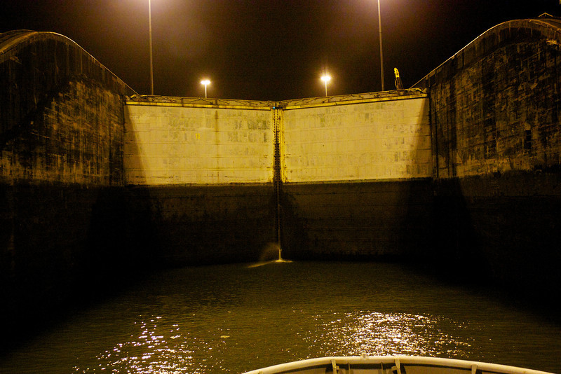 Panama Canal: In first Gatun Lock