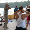 Panama Canal: Shake and Wake with Susan on sundeck