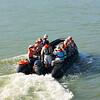 Panama Canal: Zodiac going to Barro Colorado Island