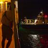Panama Canal: Captain watching pilot boat