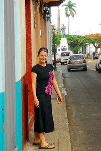 Sarah in Casco Antiguo, the old part of Panama City