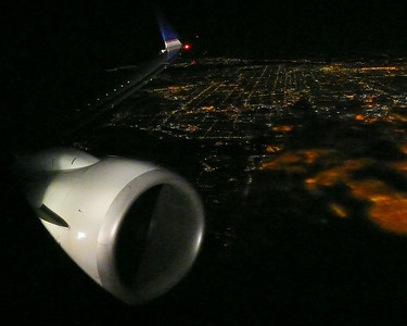 Flying over Los Angeles, CA