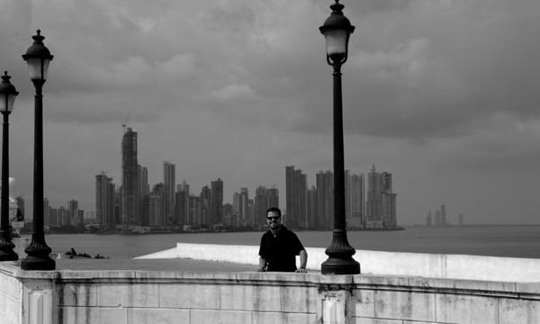 Panama skyscrapers in the horizon