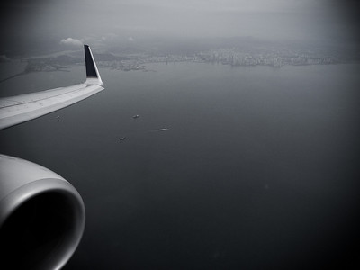 Flying over Panama City