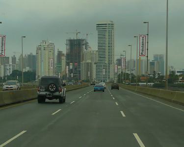 Driving into Panama City