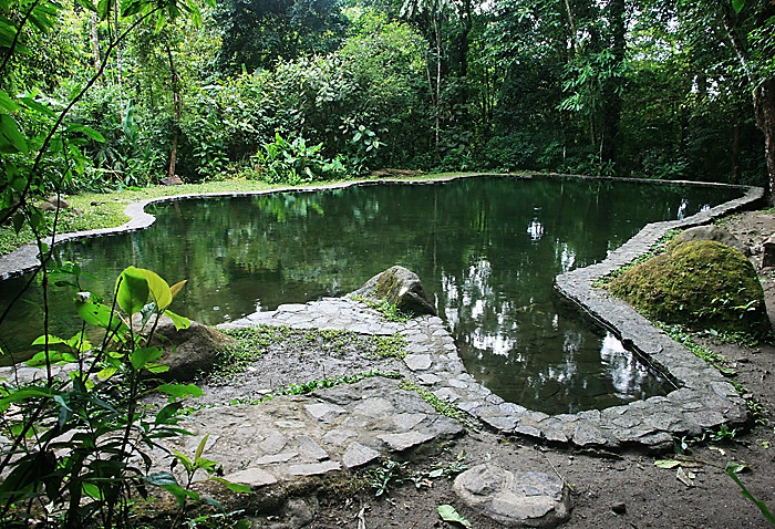 Natural pool at the Canopy Lodge