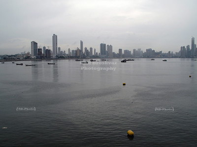 Skyline of the new Panama City as seen from the Old City (Casco Viejo)