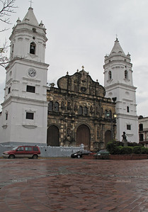 La Catedral Metropolitana (Metropolitan Cathedral) in the old Panama City, Casco Viejo, Panama