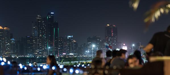 Panama City Skyline and Capital Bistro Panama