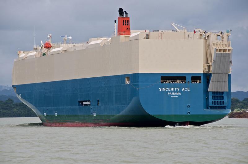 Car hauling ship