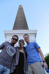 Javier, Meggan and Beau.  Old quarters of Panama City.