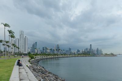 Cinta Costera,frente de la Bahia de Panama
