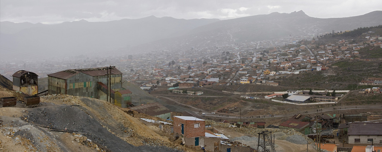 Potosi, view from the mountain Cerro Rico, near the silver mines