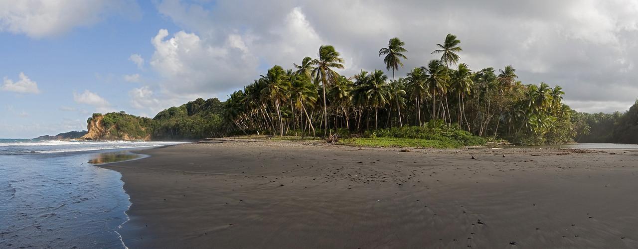 Black-sand beach near Hampsted, north Dominica