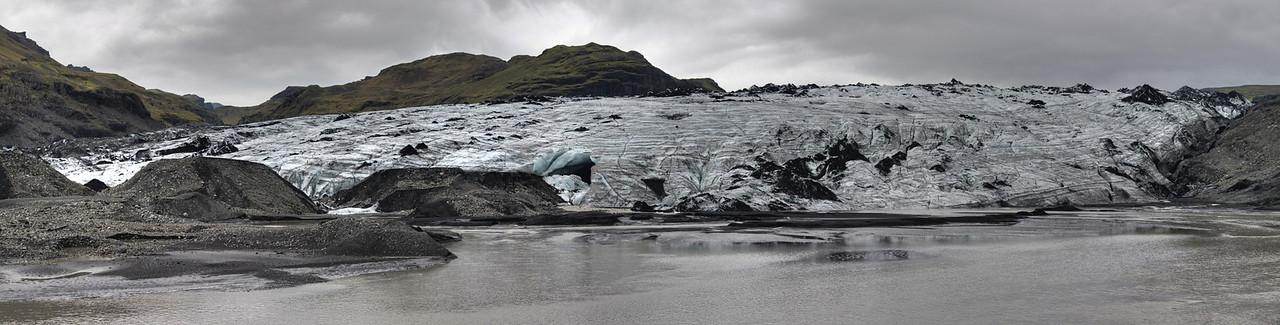 Skaftafell glacier in south Iceland