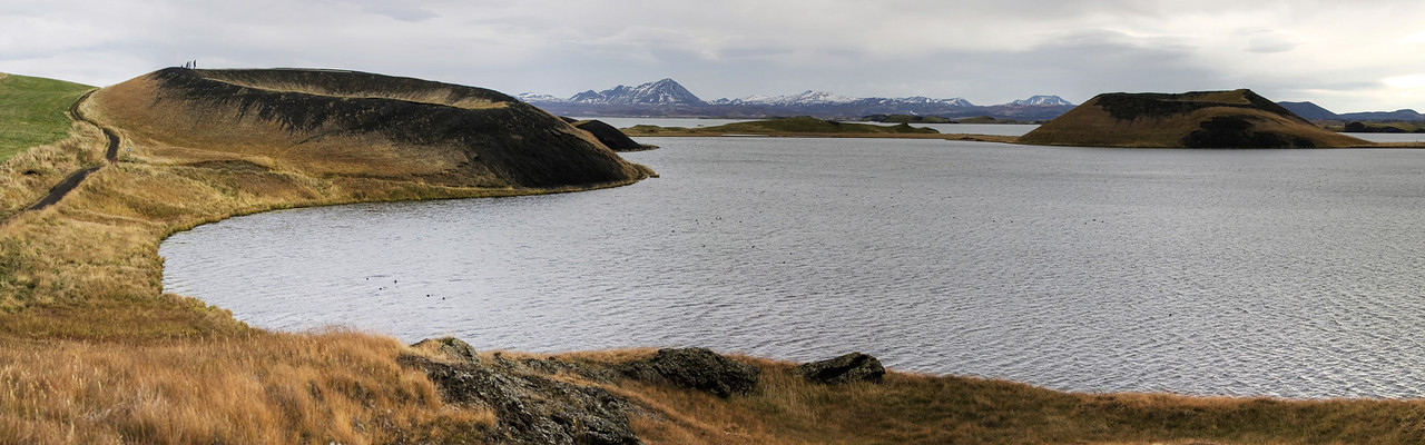 Lake Myvatn and its craters