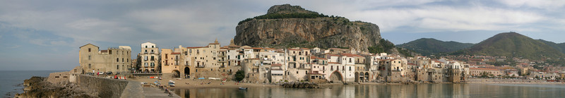 Town Cefalu from the pier