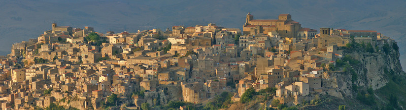 Town Enna in central Sicily