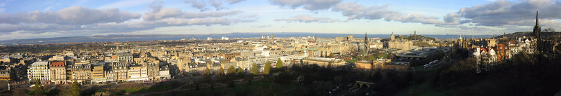 View of Edinburgh taken from Edinburgh Castle - Scotland (Nov 2004)