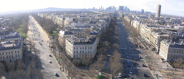 View from Arc de Triumph - Paris France (March 2005)