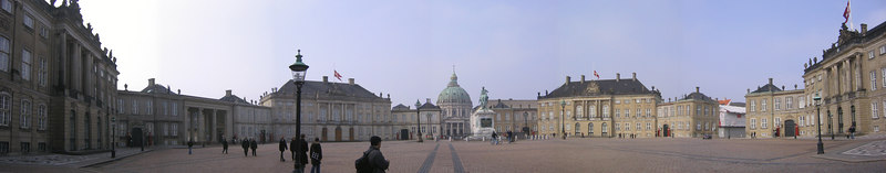 View of main square encompassing Queen Maraget's Palace - Copenhagen Denmark (March 2005)